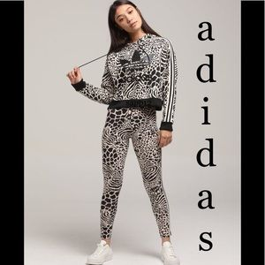 🆕ADIDAS/// 🐾LEOPARD HOODIE OUTFIT
